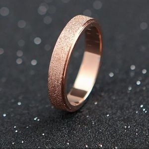 Jewelry - Women's Band Frosted Stainless Steel Rose Gold